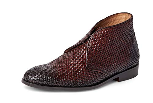 Carlos Santana Piano Men's Designer Handwoven Chukka Boots in Blake Stitch for Style and Comfort (14 D US, Chocolate)