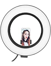 5V 3 Light Modes LED Fill Lamp, 10-Level Brightness Adjustment 6-Inch Photography Fill Light, for Makeup Live
