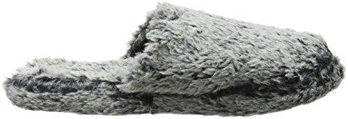 Eaze Fur Mule Slipper, Zapatillas de Estar por Casa para Mujer Gris - gris (gris)