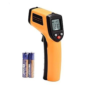 MeterMall Termómetro infrarrojo Digital Laser IR medidor de temperatura Handheld sin contacto Tester con pantalla LCD