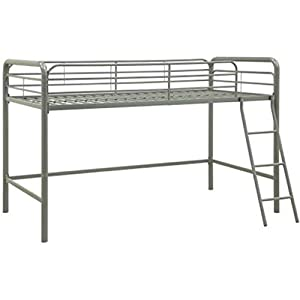 Loft Junior Bed Metal Bedroom Twin Kids Furniture Frame Bunk Ladder Desk Home Modern Industrial Dorm Bed Contemporary…