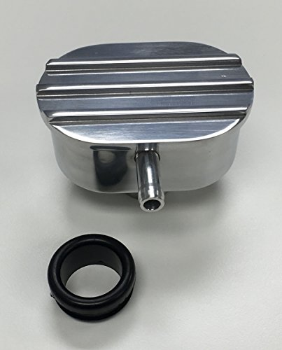 Pirate Mfg Hot Rod Polished Oval Finned Valve Cover Pcv Breather W/Grommet ()