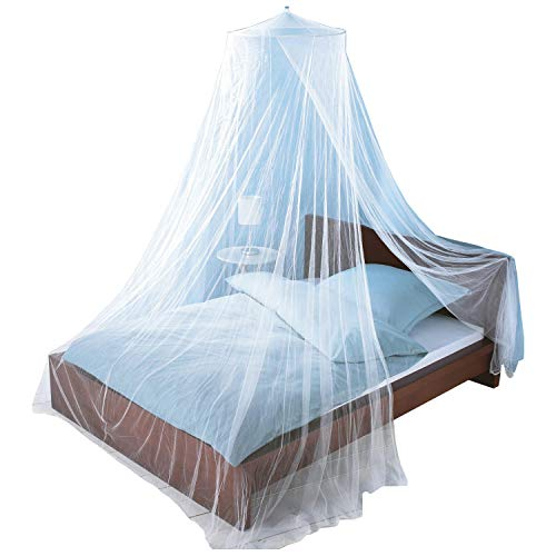 Just Relax Mosquito NET, Elegant Bed Canopy Set Including Full Hanging Kit, Ideal for Indoors or Outdoors, Intended for a for Covering Beds, Cribs, Hammocks (White, Queen/King)