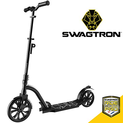 Swagtron K9 Commuter Kick Scooter for Adults, Teens | Foldable, Lightweight | Height-Adjustable for Riders up to 6