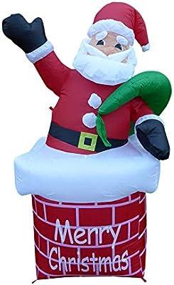 Papá Noel inflable grande de Papá Noel de chimenea ...