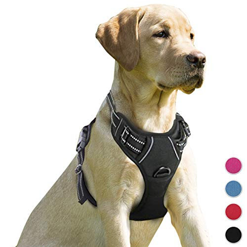 BARKBAY No Pull Dog Harness Front Clip Heavy Duty Reflective Easy Control Handle for Large Dog Walking ()