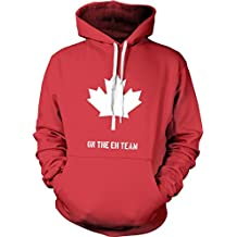 Eh Team Canada Sweater Funny Canadian Shirts Novelty Sweaters Hilarious Hoodie (Red) XXL