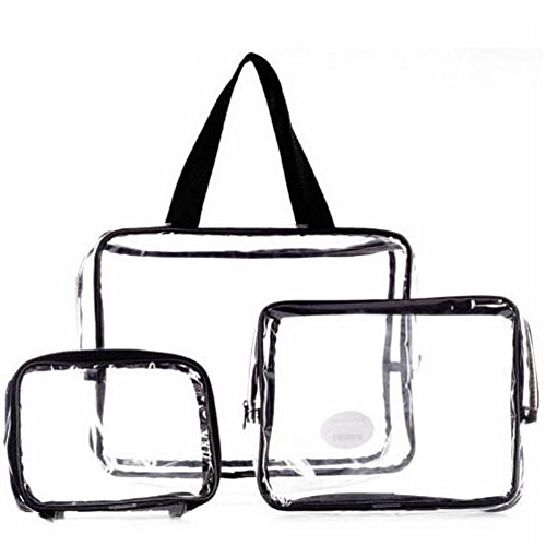JD Million shop 3PCS/Set Waterproof Transparent Cosmetic Bag Women Portable Toiletry Kits