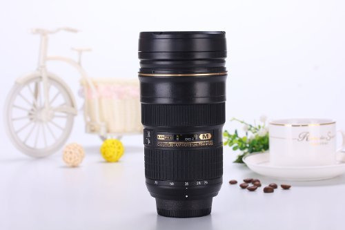 (Newly Improved) I AM MUG® 226228-668 Push Button Coffee Lens Cup Travel Mug - Inspired by Nikon 24-70 Lens Mug by I AM MUG® (Image #1)