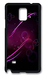 Samsung Galaxy Note 4 Case, Purple Patterned Background Rugged Case Cover Protector for Samsung Galaxy Note 4 N9100 Polycarbonate Plastics Hard Case Black