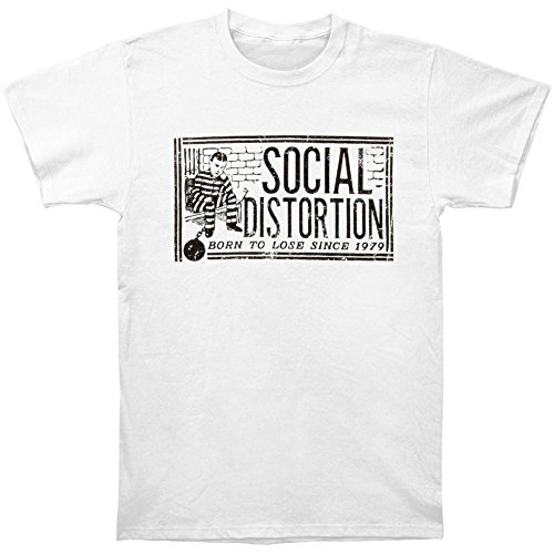 Social Distortion Born To Lose Since 1979 Ball & Chain T-shirt - White (Ball And Chain Chords)