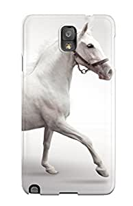 High-quality Durable Protection Case For Galaxy Note 3(white Horses Running)