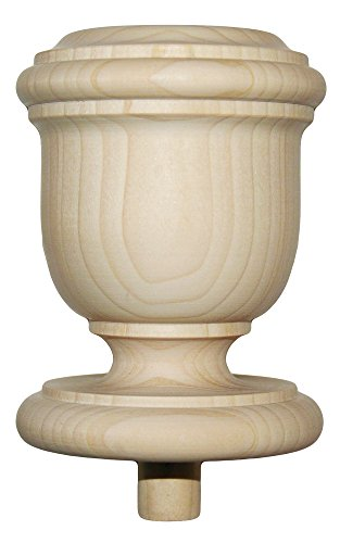 Staircase Finial Newel Post Cap FN-0104, Poplar Wood ()