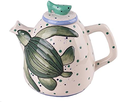 Blue Sky Ceramic Alligator Teapot