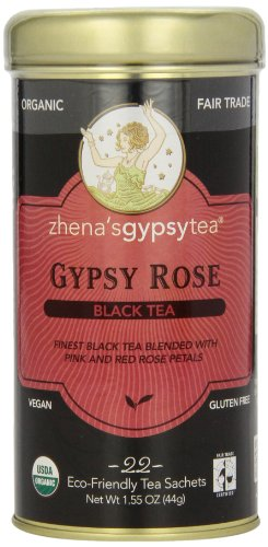 Zhena's Gypsy Tea, Gypsy Rose, 22 Count Tea Sachet, 1.55oz