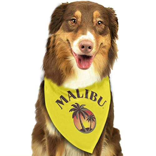 - CURTE Malibu Coconut Tree Classic Washable and Reversible Pet Dog Cat Puppy Bandana Triangle Head Scarf Bib