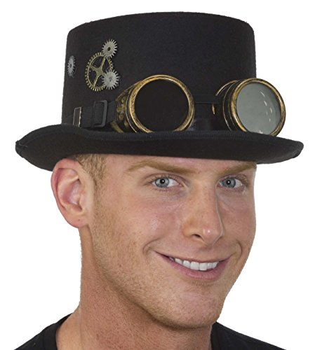 Steampunk Hat (Steampunk Top Hat Goggles & Gears)