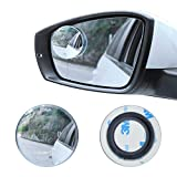 "LivTee Blind Spot Mirror, 2"" Round HD Glass Frameless Convex Rear View Mirror with wide angle Adjustable Stick for Cars SUV and Trucks, Pack of 2"