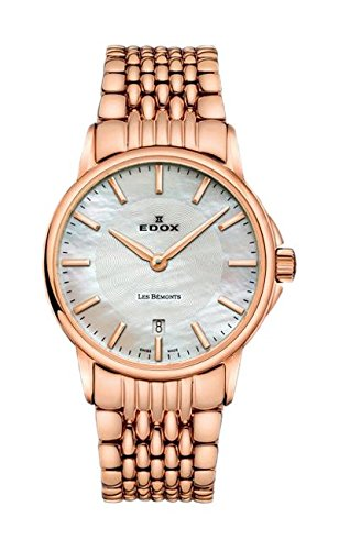 Edox Women's 57001 37RM NAIR Les Bemonts Analog Display Swiss Quartz Rose Gold Watch