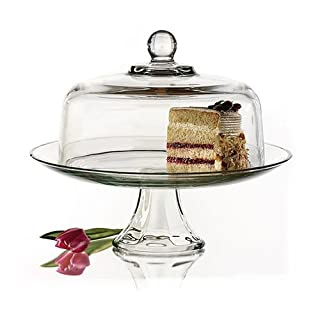 Anchor Hocking Presence Cake Plate w/Dome, 2 Piece Stand & Dome (B0000630NY) | Amazon Products