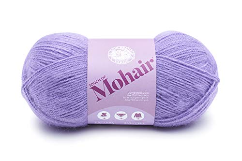 (Lion Brand Yarn 677-147 Touch of Mohair Yarn, Purple Haze)