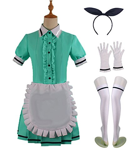 Wish Costume Shop Blend-S Anime Uniforms Cosplay Costumes Full Set (XXL, - Green Dress Cosplay