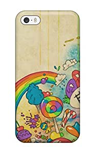 For Iphone 5/5s Premium Tpu Case Cover Colorful Monsters Protective Case