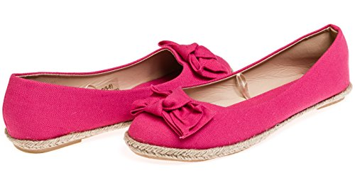 Chatties Ladies Canvas Espadrille Flats Size 9/10 - Fuchsia