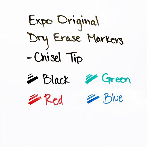 EXPO Low Odor Chisel Tip Dry Erase Markers, Chisel Tip, Assorted Colors, 4-Count by Expo (Image #3)