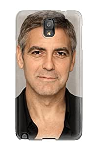 Durable Defender Case For Galaxy Note 3 Tpu Cover(george Clooney )