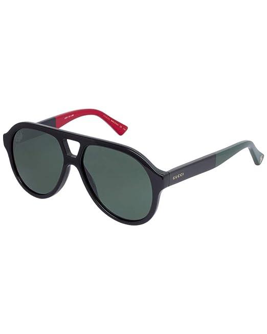 Gucci GG0159S 003, Gafas de Sol Unisex Adulto, Negro (3/Green), 56: Amazon.es: Ropa y accesorios
