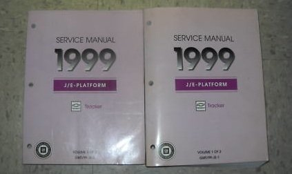 1999 Chevrolet Chevy Geo Tracker Service Manual Set OEM (2 volume set)