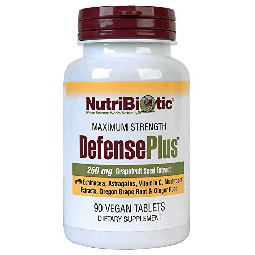 - Nutribiotic Defenseplus Tablets, 250 mg, 90 Count
