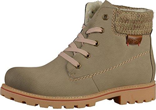 24 Boots Beige Rieker Z1420 femme gqwFw5xZE