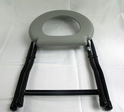 Folding Commode Chair Steel Portable Camping Toilet Seat