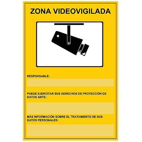 Cartel de cámaras de seguridad CCTV LOPD: Amazon.es ...