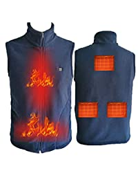 Thickened Fleece Heating Vest,Smart USB Rechargeable Heating Jacket,Electric Warm Fishing Heated Vest for Men Women,Washable