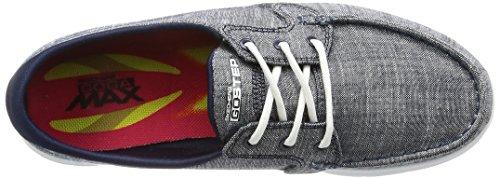Skechers Dames / Dames Gaan Stap Jersey Marina Textiel Canvas Casual Schoenen Marineblau