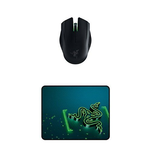 (Razer Orochi Wired or Wireless Bluetooth Travel Gaming Mouse - 8200 DPI with Chroma Lighting - 7 Months of Battery Life + Razer Goliathus Gaming Mouse Mat)