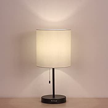 Amazon haitral table lamp metal base fabric lamp shade night haitral table lamp metal base fabric lamp shade night light for living room bedroom aloadofball Image collections