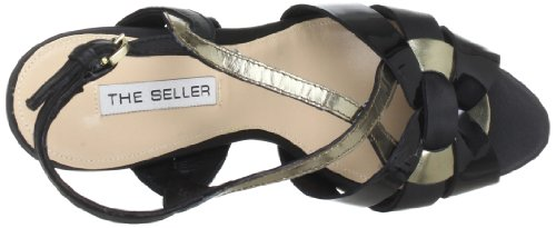Sandalias Seller S1473 The cuero de Schwarz Nero mujer Negro para wEBqqxd