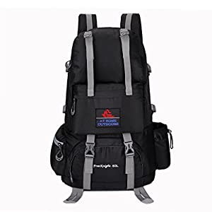 UBORSE 50 Liter Hiking Backpack Travel Daypack for Outdoor Camping, Black