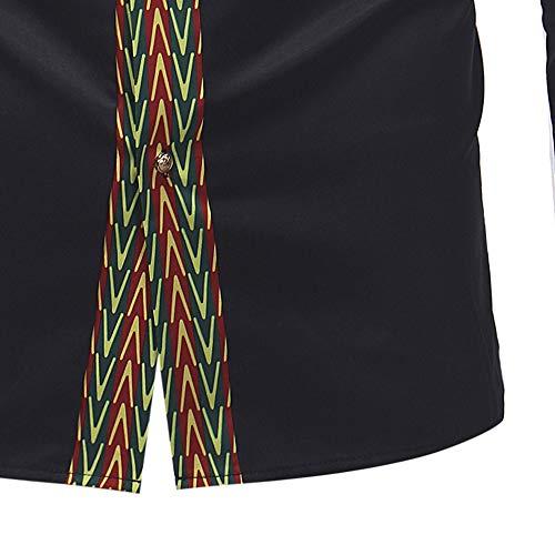 Chemisier Nior Manches Africain Luxe Pour Hommes À Élégant Chic T Imprimé Malloom De Longues shirt 6qnSgwt5