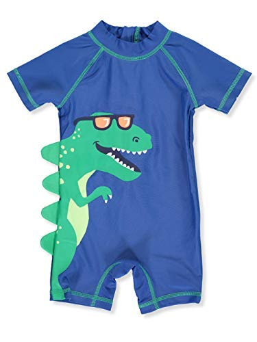Carter's 1 Piece Baby Boy's Dinosaur Rashguard Swim Bathing Suit 50+ UPF (9 Months) Blue and Green by Carter's