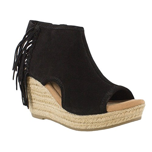 cheap Inexpensive pay with paypal online Minnetonka Women's Blaire Wedge Sandals - 71330Blk Black best sale outlet tumblr HDr5IaA