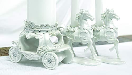 Fairytale Carriage Coach & Horse Wedding Ceremony Unity Candle Set