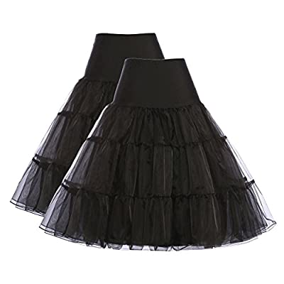 GRACE KARIN Women's 50s Vintage Petticoat Crinoline Tutu Underskirts