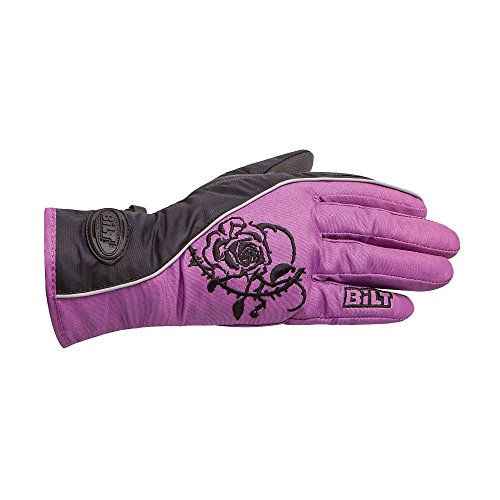 BILT Women's Connie Waterproof Motorcycle Gloves - MD, Black/Pink