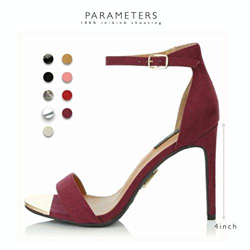 7a5bfde387be71 ... Dailyshoes Stilettos Des Femmes Sandale Bout Ouvert Cheville Boucle  Sangle Plate-forme Soirée Robe De ...