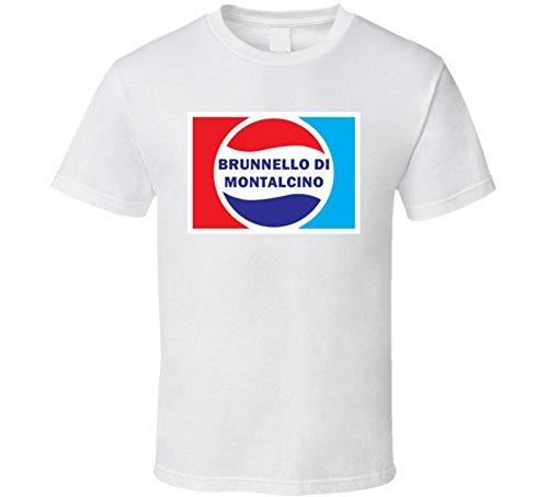 (Brunnello Di Montalcino Lover Cola Parody Funny Drink Gift T Shirt M White)